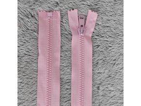 zip kostěný plastový světle růžový 60 cm