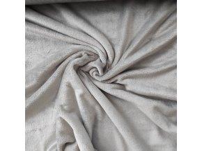 Flanel fleece světle šedá