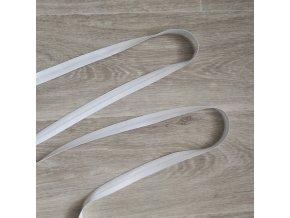 Šikmý proužek bavlněný 18 mm bílý