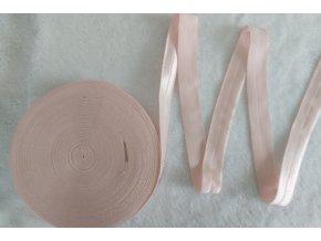 Lesklá lemovací pruženka 19 mm růžová pudrová