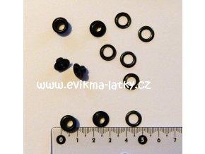 Průchodky černá 5,5x5x10 mm