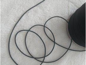 guma klobouková pružná černá š. 20 mm