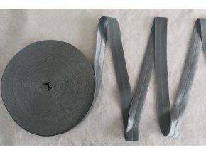 Lesklá lemovací pruženka 19 mm tmavě šedá