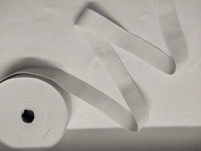 Tkaná hladká guma š. 3cm bílá