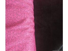 Softshell růžový s kostičkami 30/15