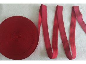 Lesklá lemovací pruženka 19 mm červená