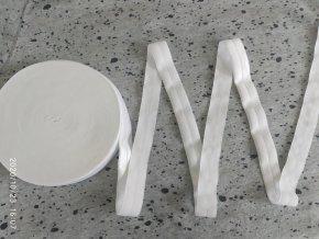 Lesklá lemovací pruženka 19 mm bílá