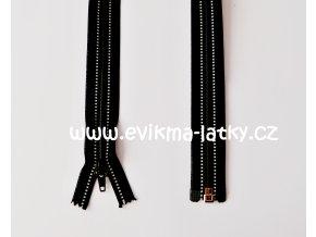 zip černý reflexní 70cm dělitelný