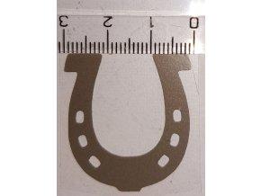 Reflexní nažehlovačka podkova 3 cm výprodej
