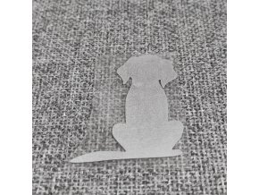 Reflexní nažehlovačka pes