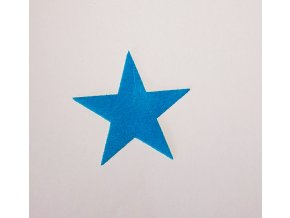 Nažehlovací sametová folie hvězda modrá malá
