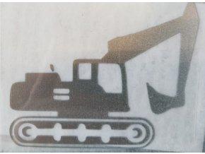 Reflexní nažehlovačka doprava - bagr kus