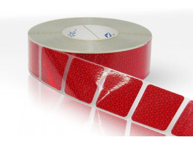 Reflexní páska Reflexite VC104+ červená na autoplachty
