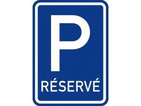 znacka parkoviste reserve