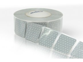 Reflexní páska bílá Reflexite VC104+ na autoplachty