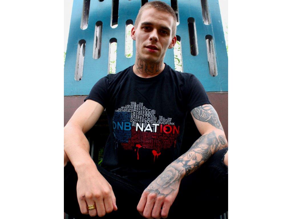 Pánské tričko DNB Nation černé / bílé