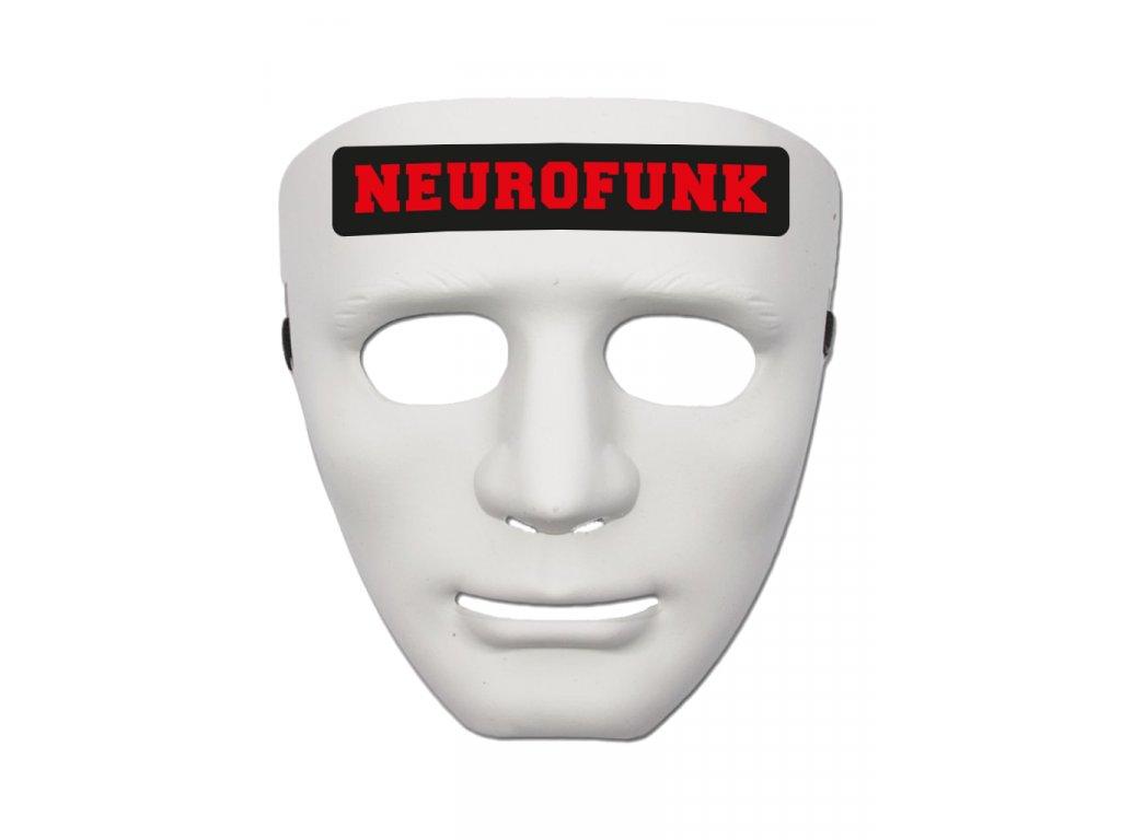 Maska NEUROFUNK RED bílá