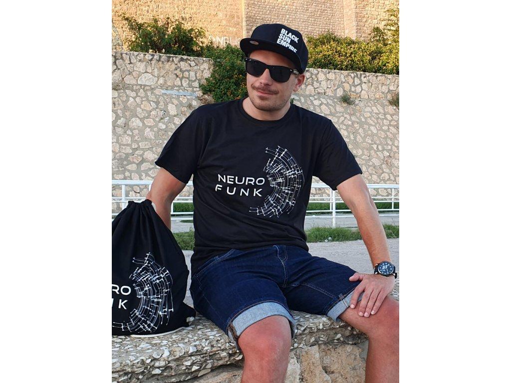 Pánské tričko NEUROFUNK Signal černé / bílé