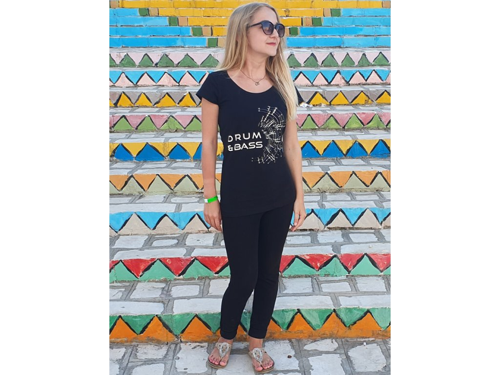 Dámské tričko DNB Signal černé / bílé