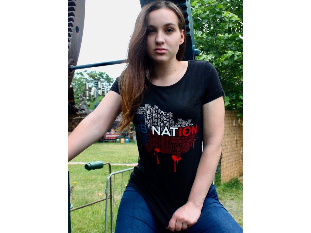 Dámské tričko DNB Nation černé / bílé