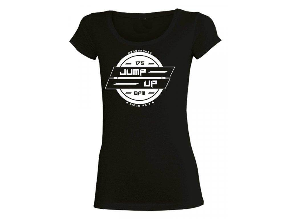 Dámské tričko SYMBOL-JUMP-UP černé / bílé