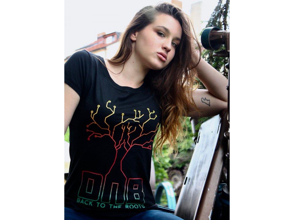 Dámské tričko DNB Tree černé / bílé