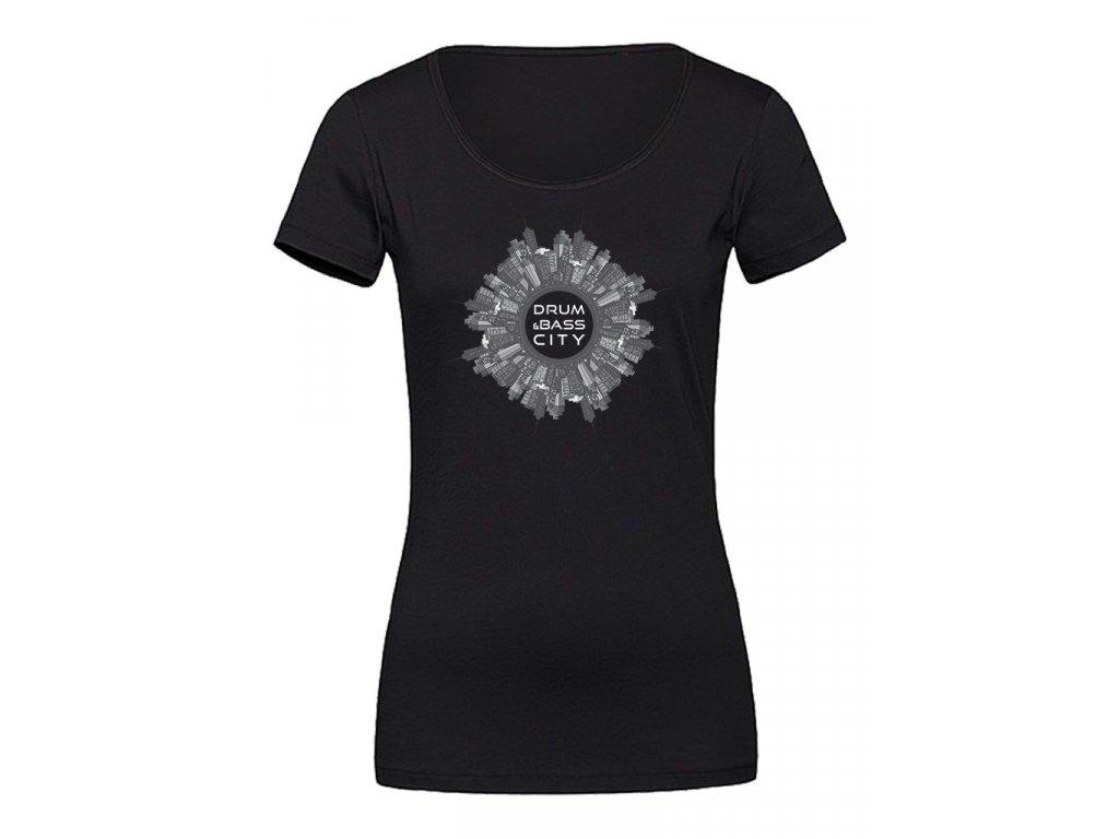Dámské tričko New City D&B černé / bílé
