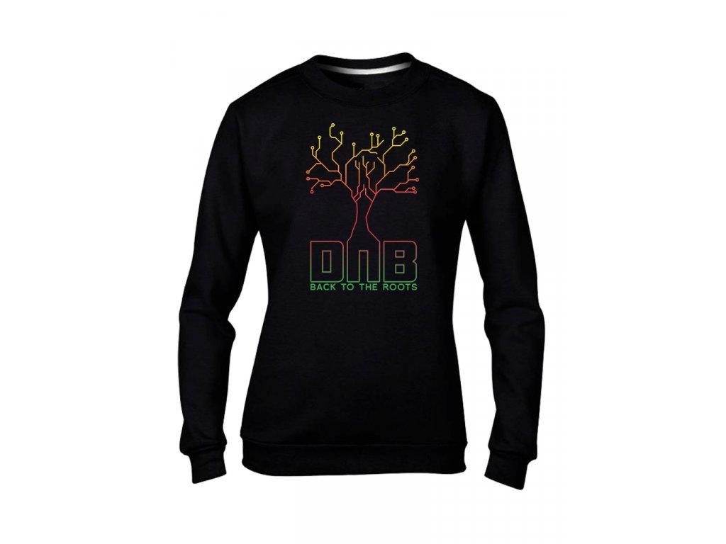 strom mikinaBEZkapuce cerna damska d