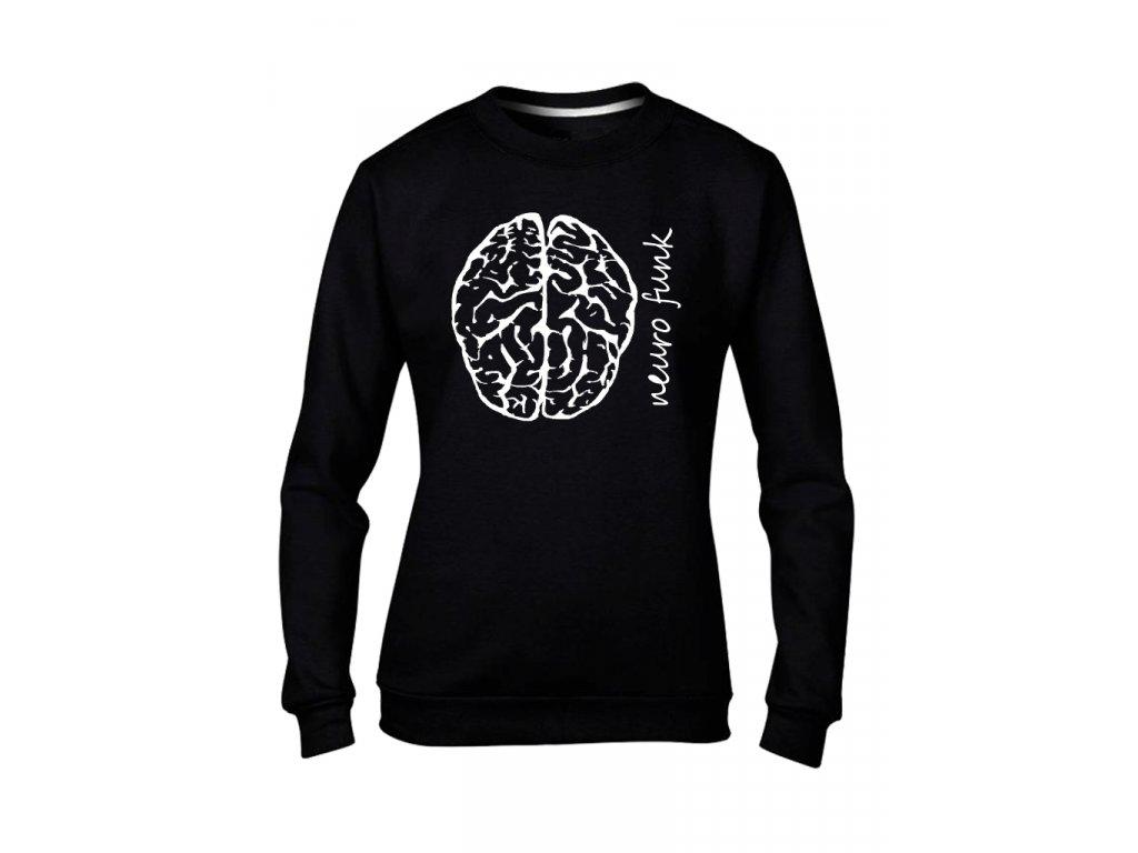 mozek mikinaBEZkapuce cerna damske
