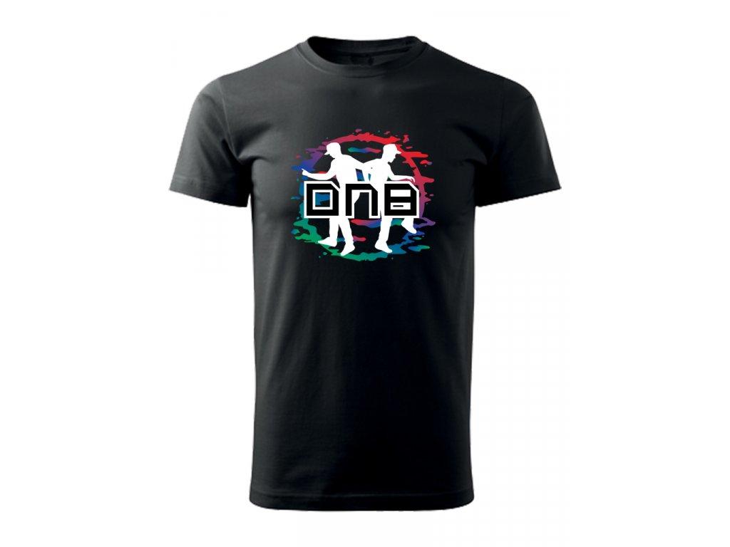 Pánské tričko DNB DANCERS černé / bílé