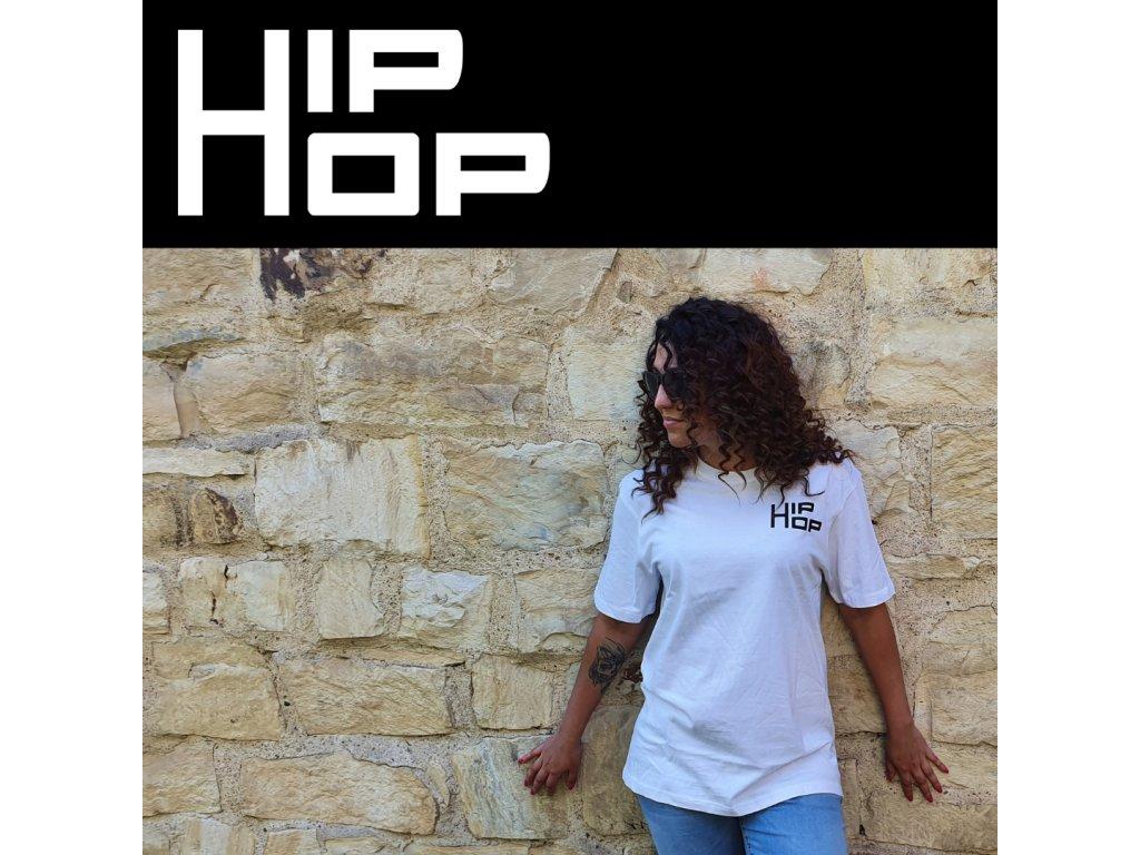 Unisex bílé tričko Hip Hop Mini Logo