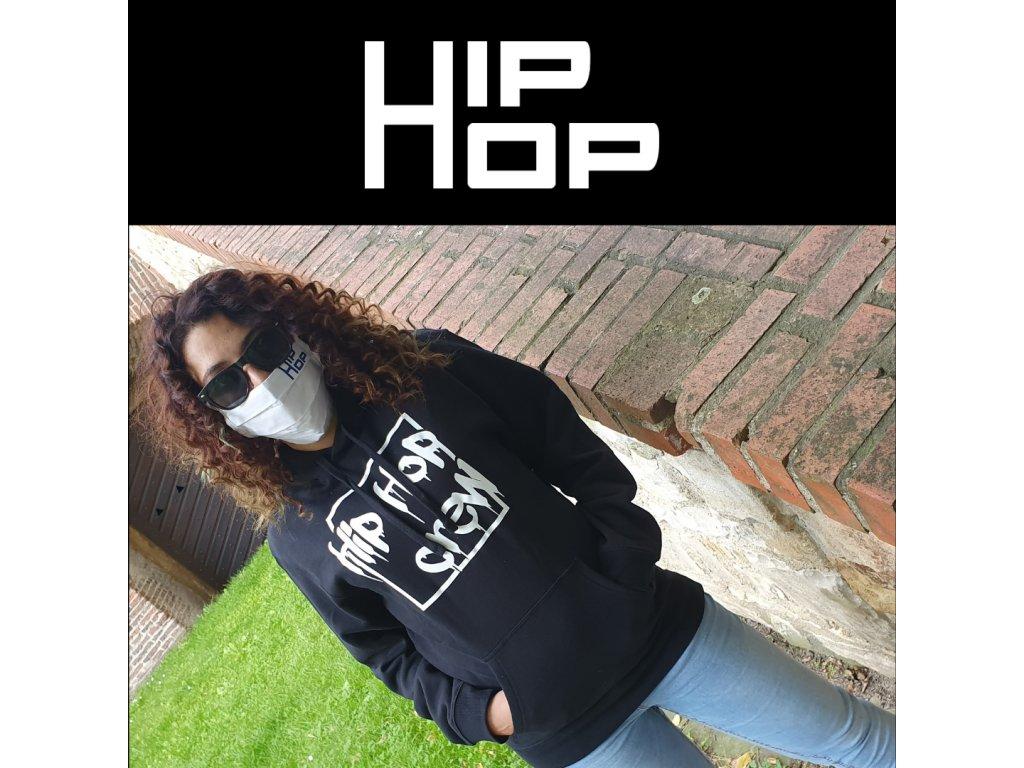 Hip Hop rouška bílá