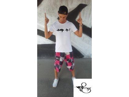 Pánské tričko WAS.ONE Jump bílé (Vyber velikost XXL)