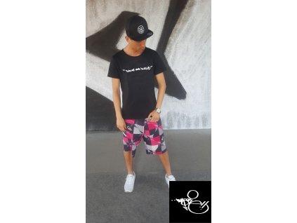 Pánské tričko WAS.ONE DNB černé (Vyber velikost XXL)