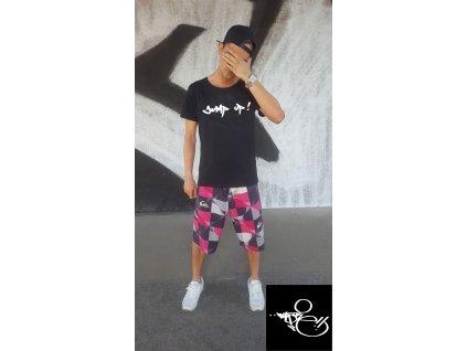 Pánské tričko WAS.ONE Jump černé (Vyber velikost XXL)