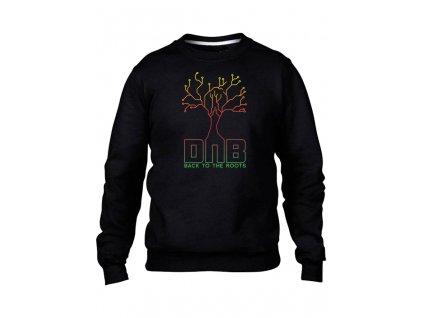 strom mikinaBEZkapuce cerna panska d