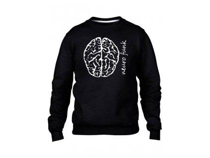mozek mikinaBEZkapuce cerna panska