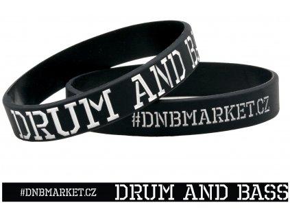 Náramek Drum and Bass černý