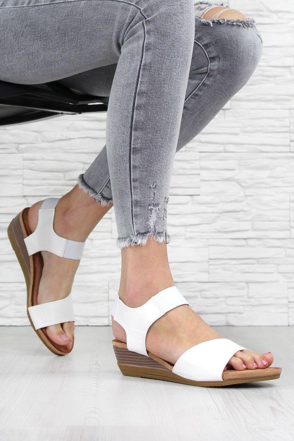 Sandály na klínku AB9173 4WH (1)