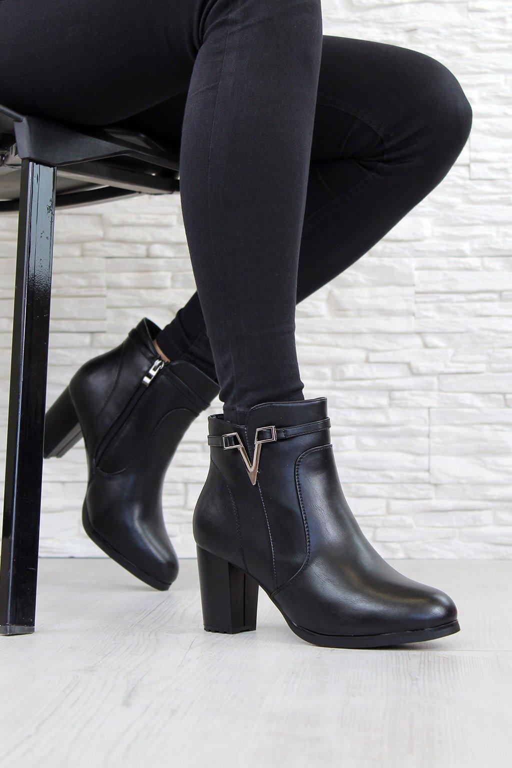 Zateplené boty na podpatku CK50 5B (3)
