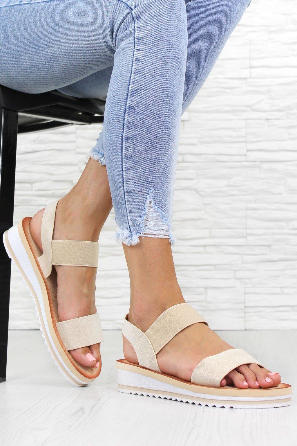 Béžové sandály WS 1614BE (2)