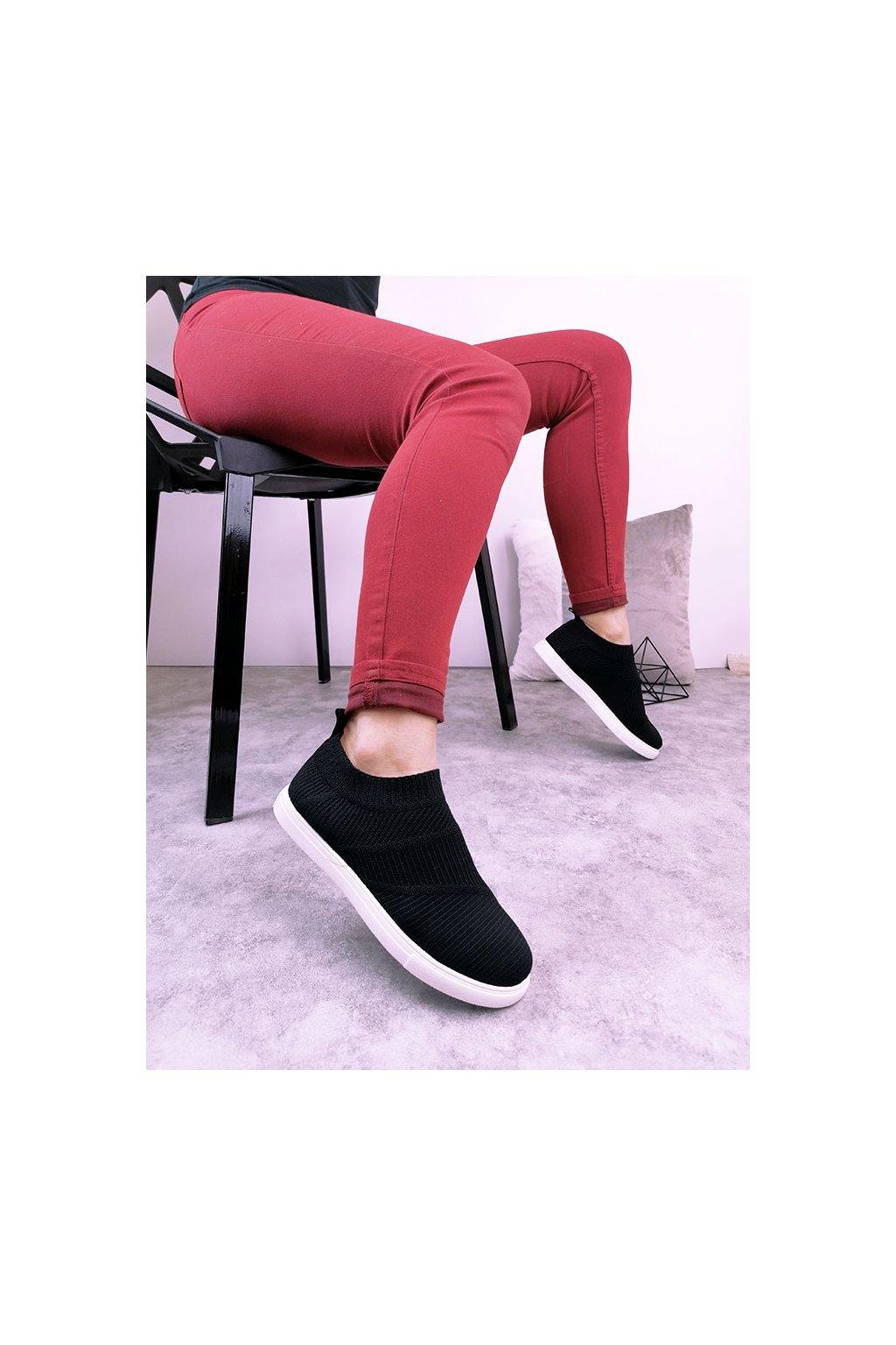 SW6269 BLACK Nízké ponožkové tenisky