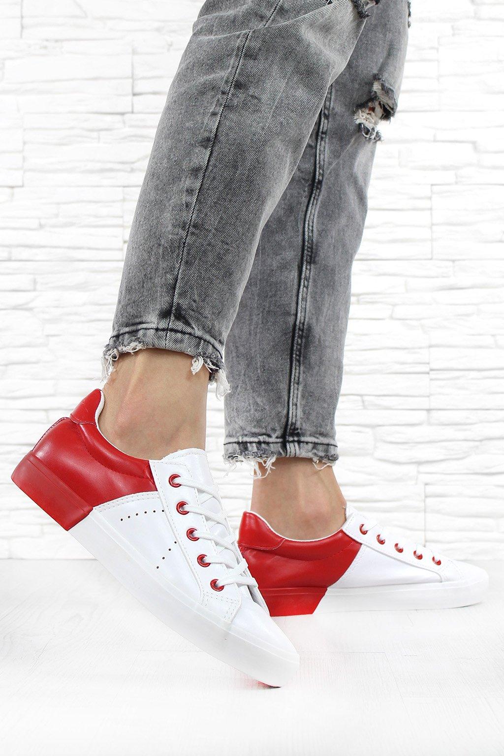 Červenobílé tenisky XL15R (1)