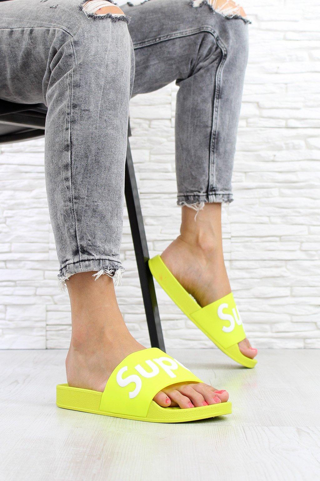 Neonové pantofle 7 S176F YE (1)