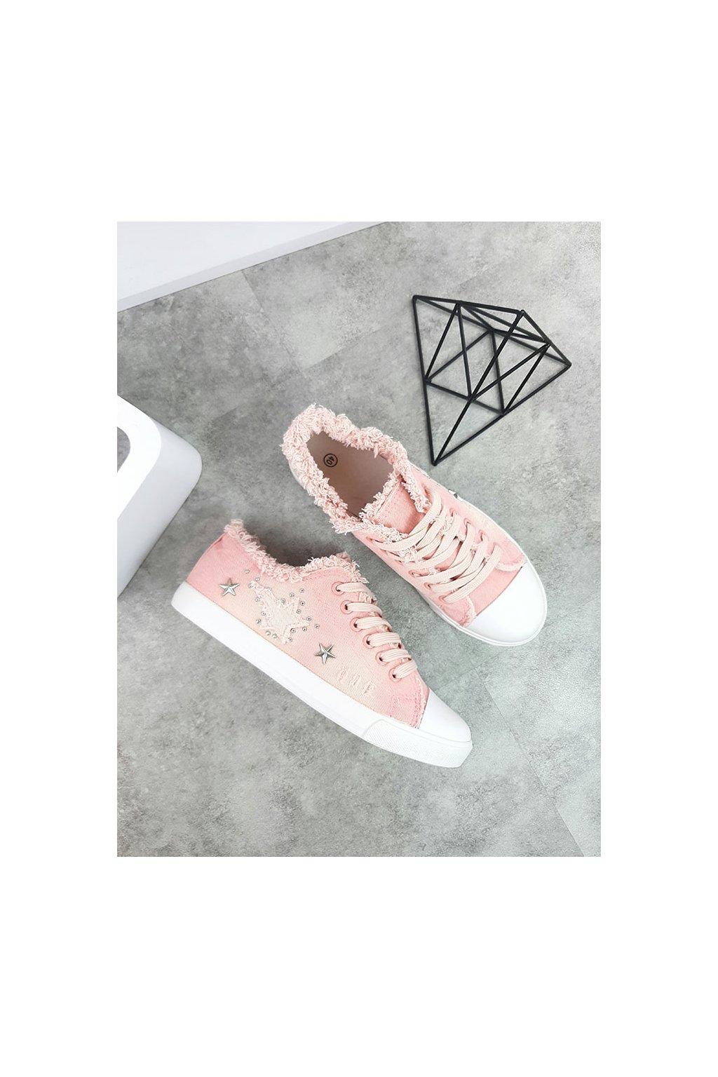 XL06P 4 PINK Růžové tenisky (1)