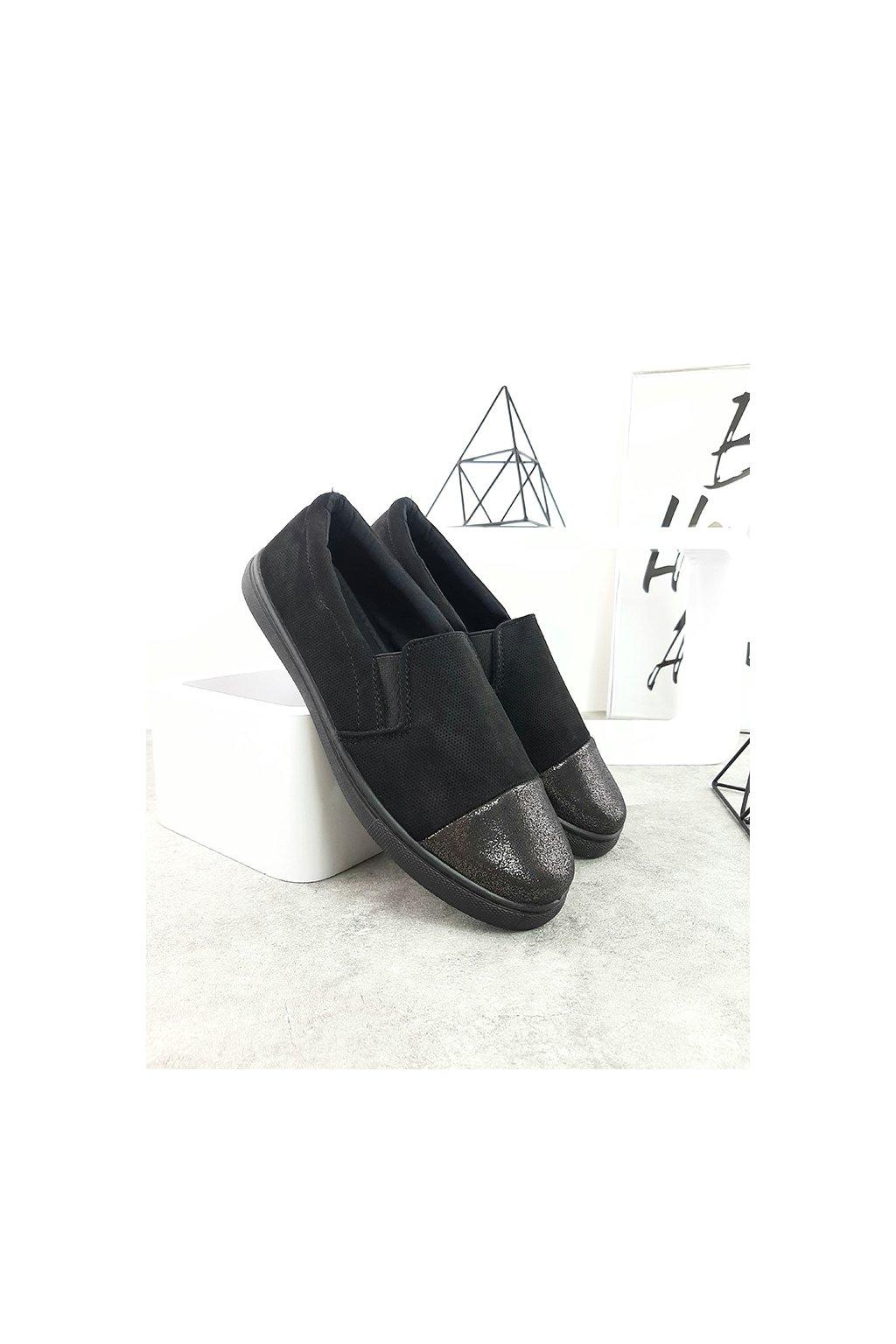 VT102 1 BLACK Slip on tenisky (2)