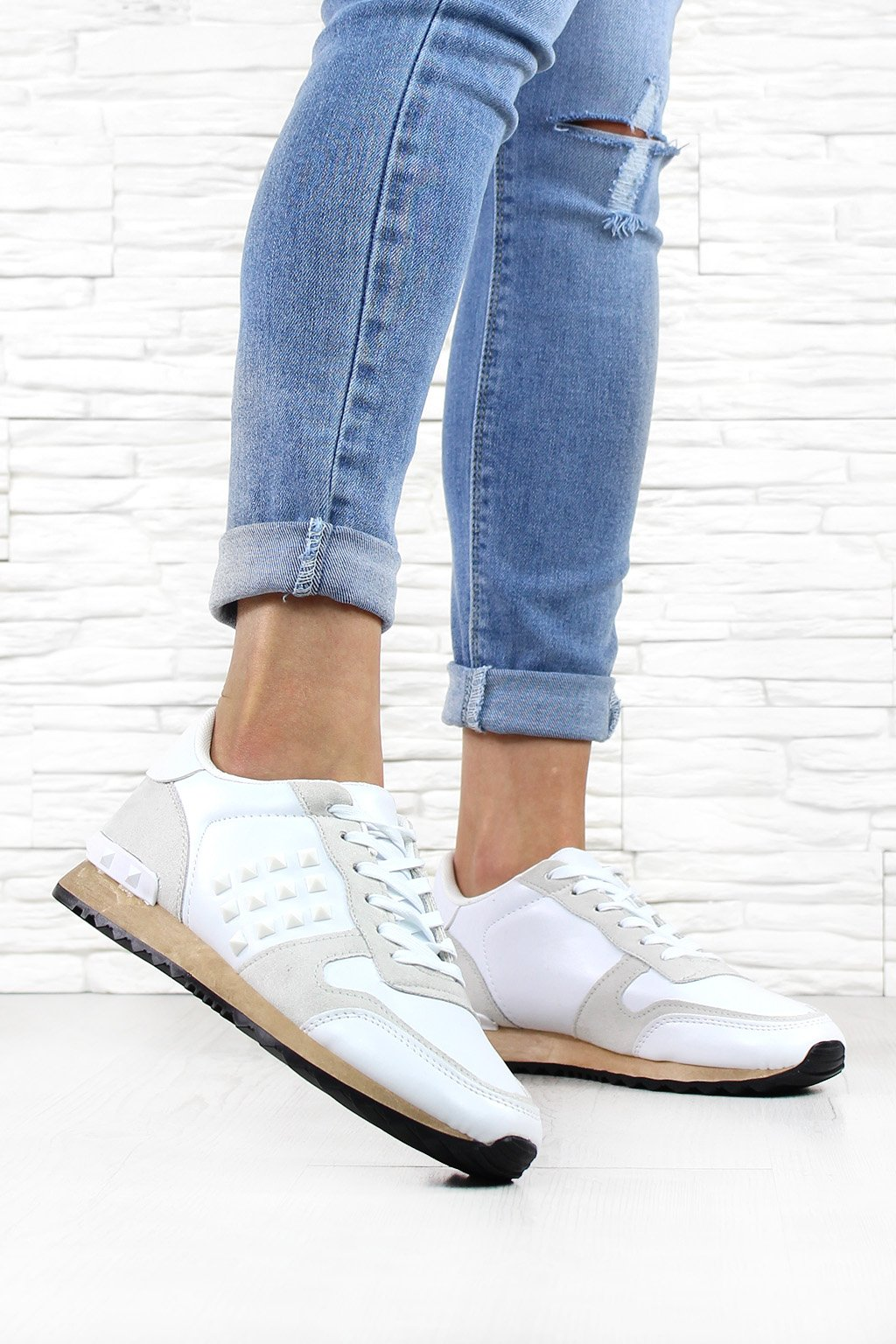 7 K543B WHITE Sneakersy (1)