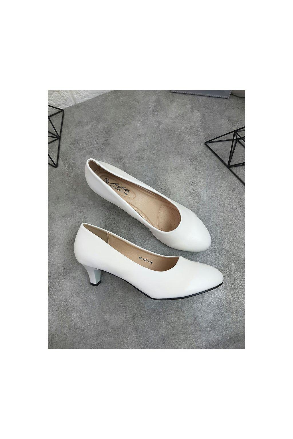 RH 119 4 WHITE Bílé lodičky (1)