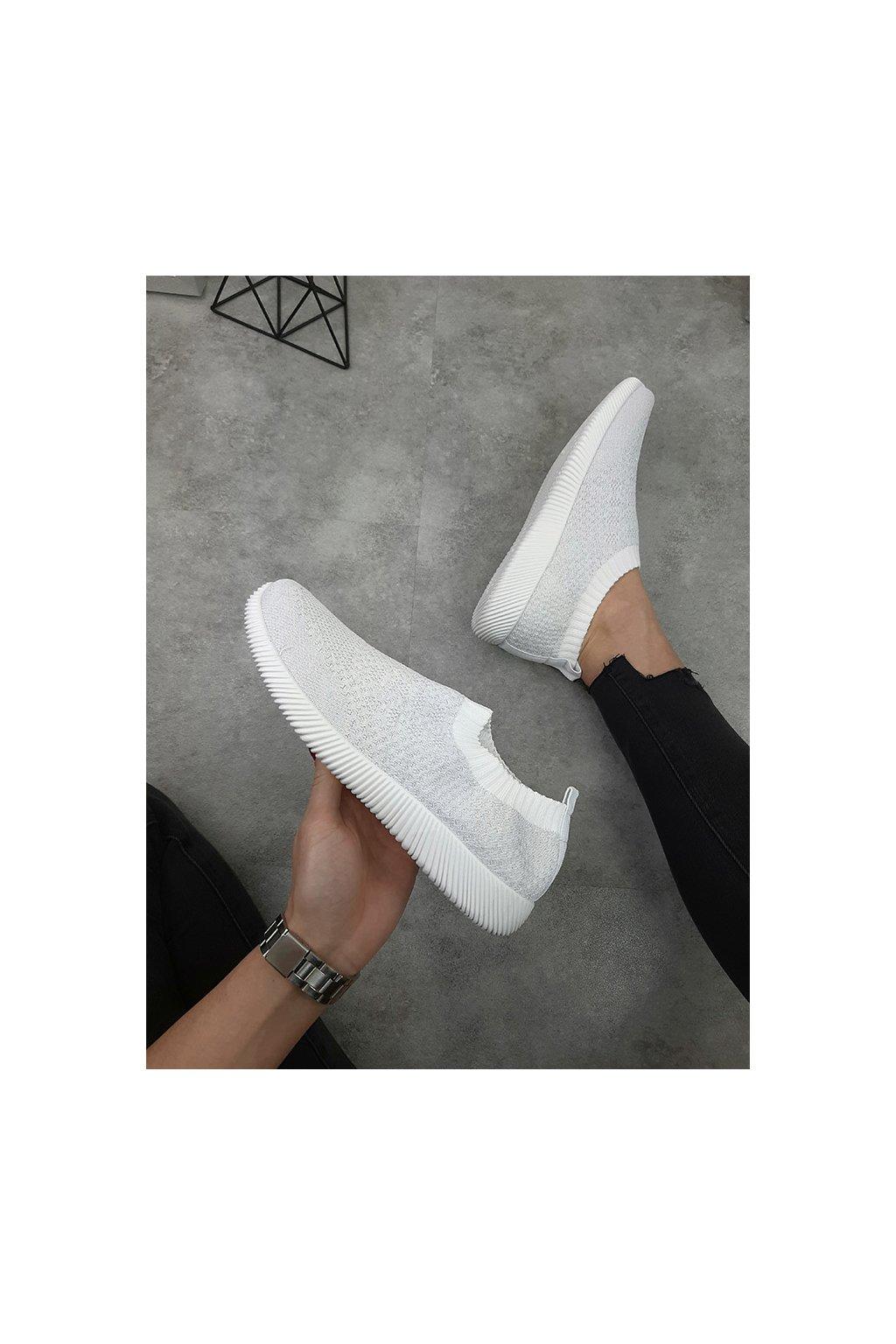 SJ1908 3 WHITE Ponožkové tenisky (3)