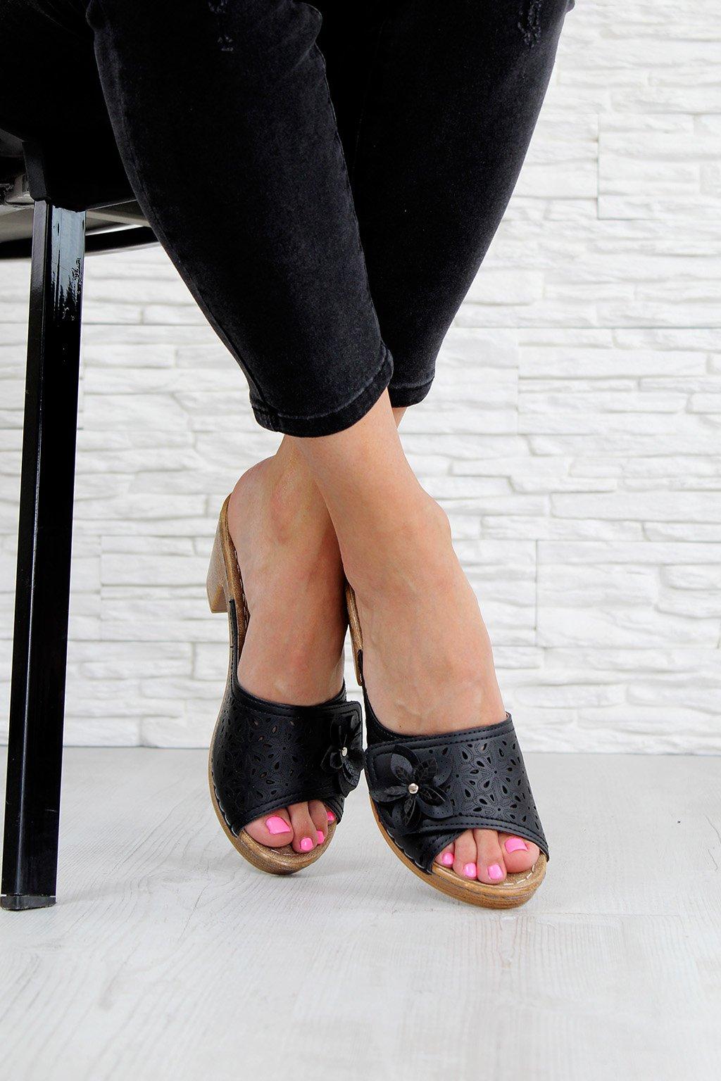 E0114 1B Letní pantofle na podpatku (3)